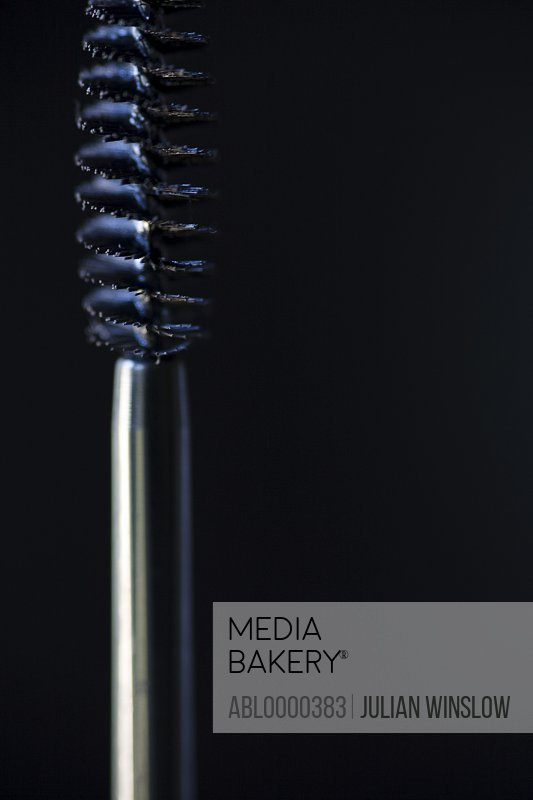 Extreme close up of mascara wand