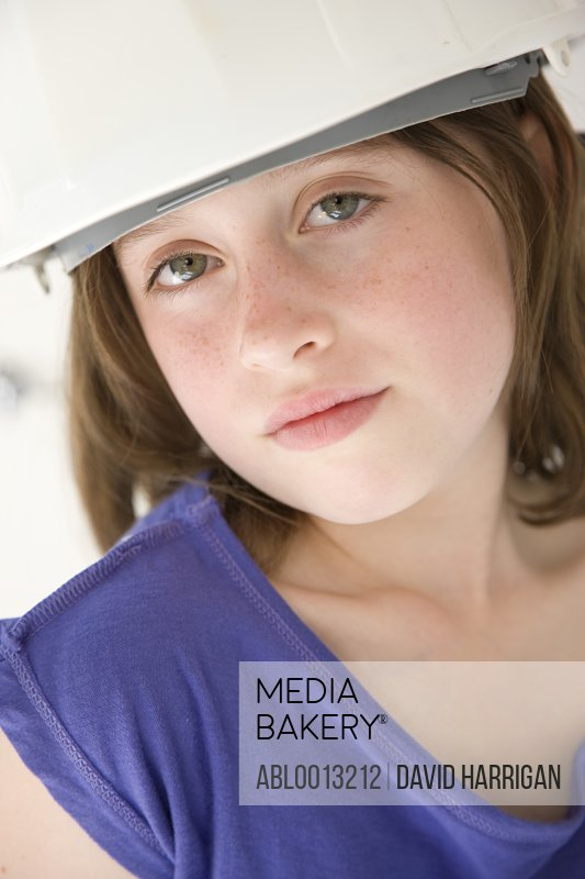 Girl Wearing Hard Hat