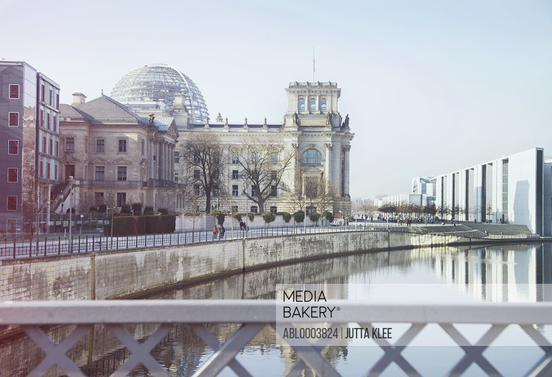 Germany, Berlin, View of Reichstag, Parliament Building
