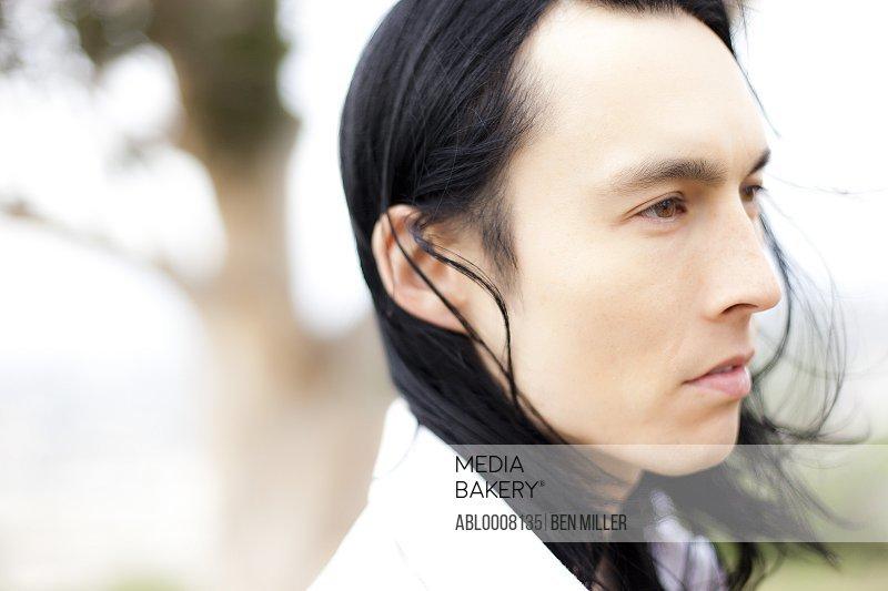 Close up Profile of Man