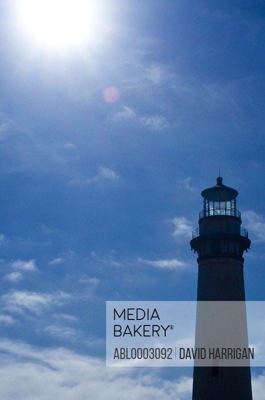 Pigeon Point Lighthouse against Blue Sky, California, USA
