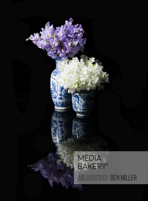 Bouquets of Flowers in Ceramic Vases