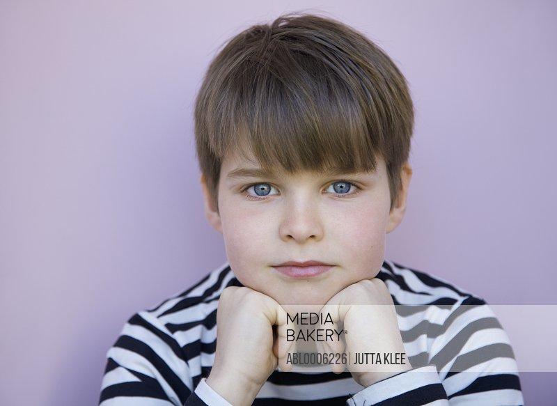 Close up portrait of a boy