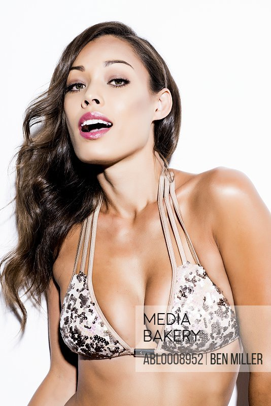 Woman Wearing Bikini Top