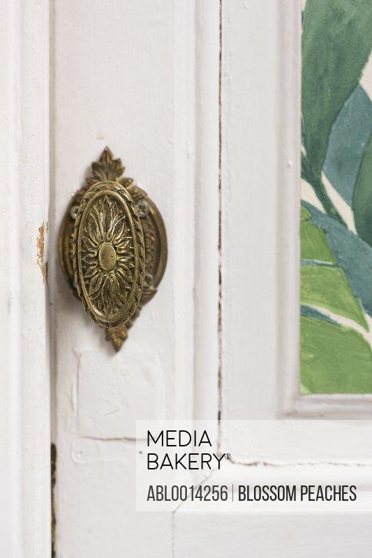 Metal Door Knob, Close-up view