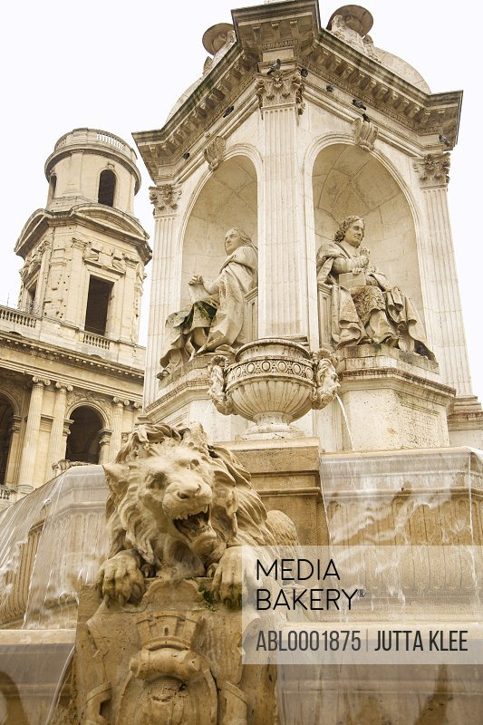 The Fountain of the Four Bishops, Saint Sulpice, Paris, France