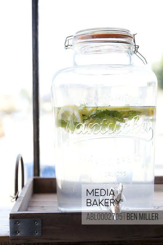 Lemonade Glass Jar Dispenser