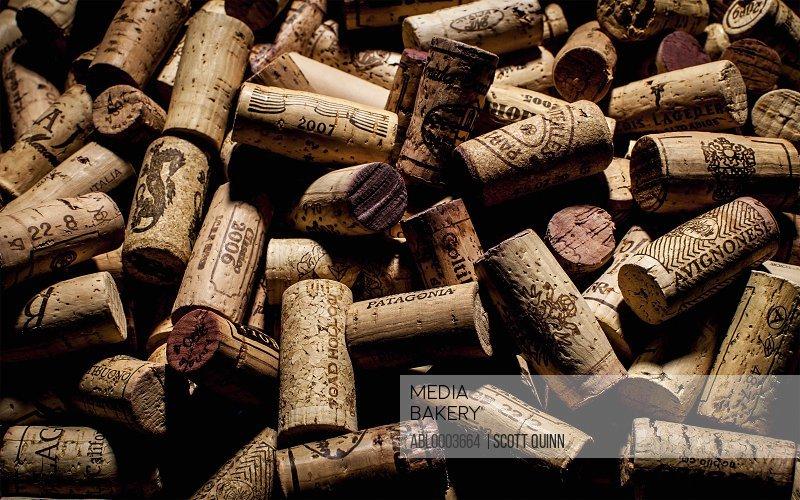 Pile of Wine Corks, Full Frame