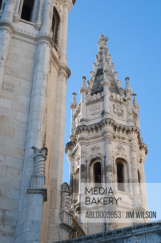 Architectural Detail of Jeronimos Monastery, Lisbon, Portugal