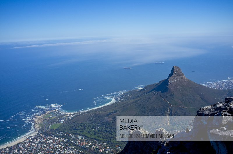 Aerial View of Lion's Head Mountain, Cape Town, South Africa