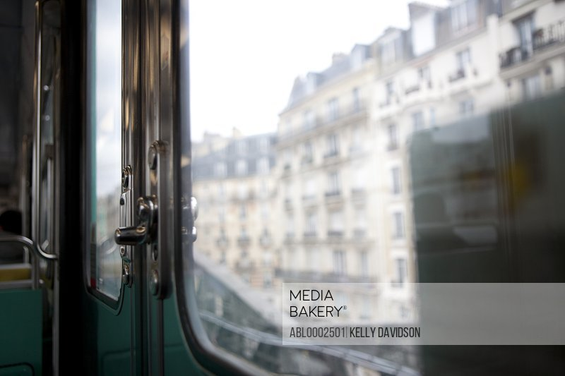 Parisian Buildings seen from Window of Subway Car