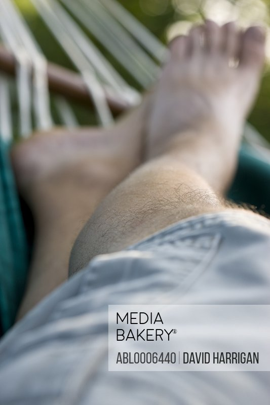 Man's Legs on Hammock