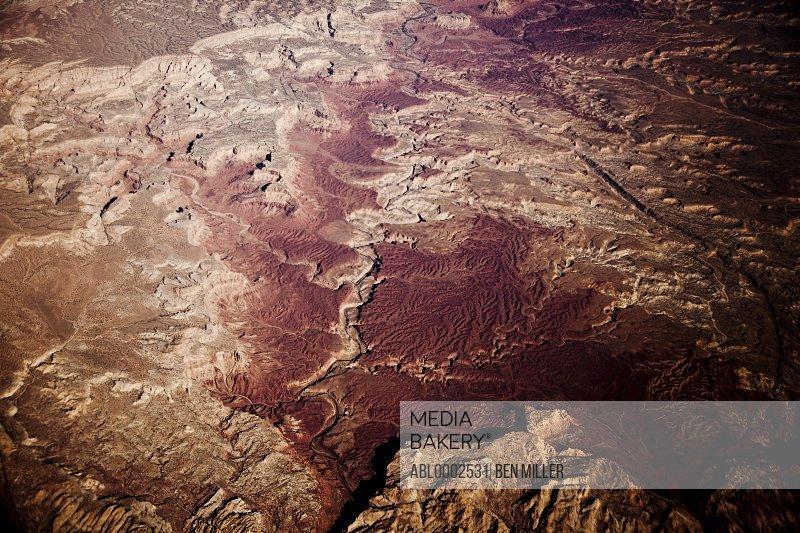 Desert Landscape, Aerial View