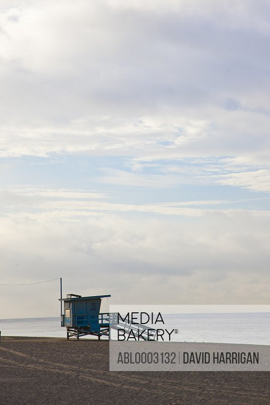 Lifeguard Station at Malibu Beach, California, USA
