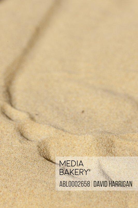 Footprint in Beach Sand