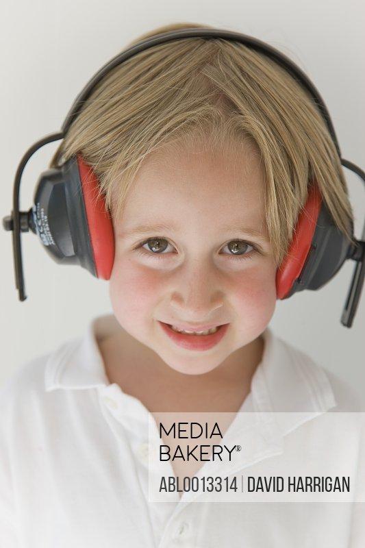 Boy Wearing Headphones