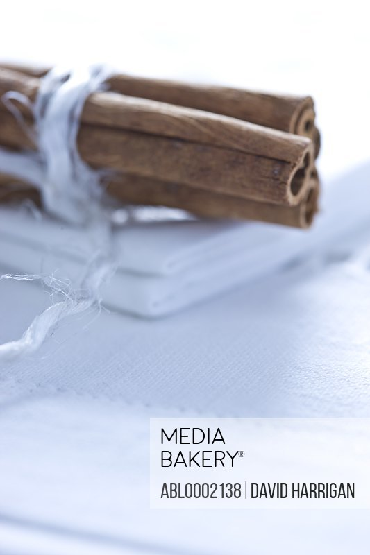 Cinnamon Sticks Tied up with White String