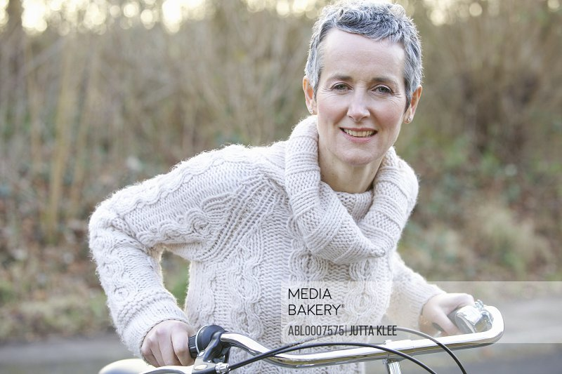 Mature Woman on Bicycle