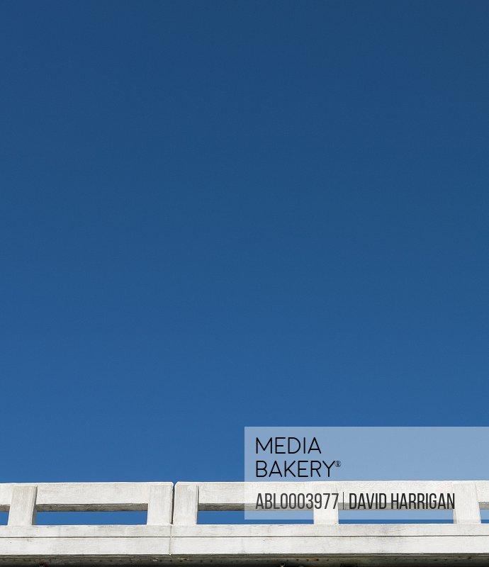 Concrete Parapet and Blue Sky, Low angle view