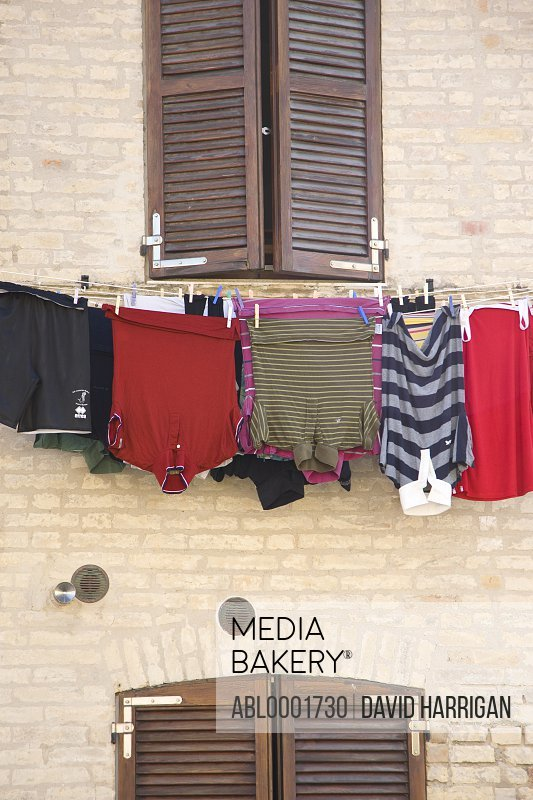 Clothes line under a window
