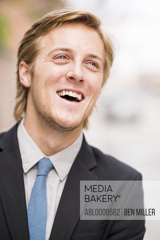 Smiling Businessman, Close-up View