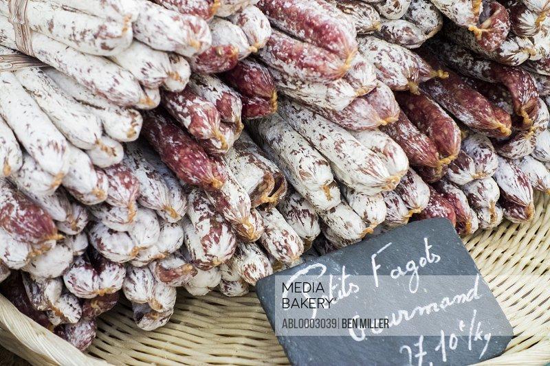 Salami on Sale in France
