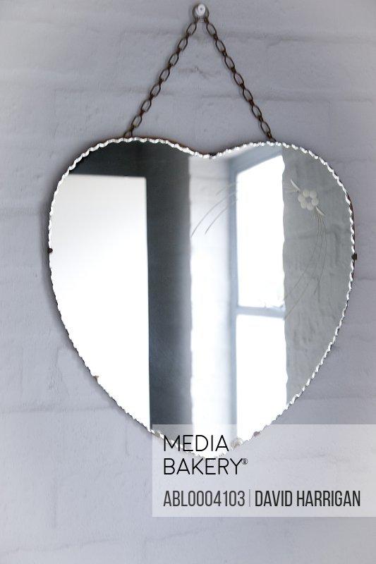Hanged Heart Shaped Mirror