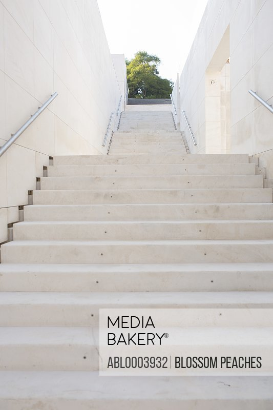 Modern Building Exterior Stairway