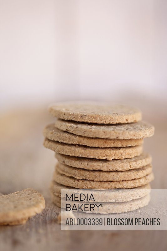 Close up of a Stack of Biscuits