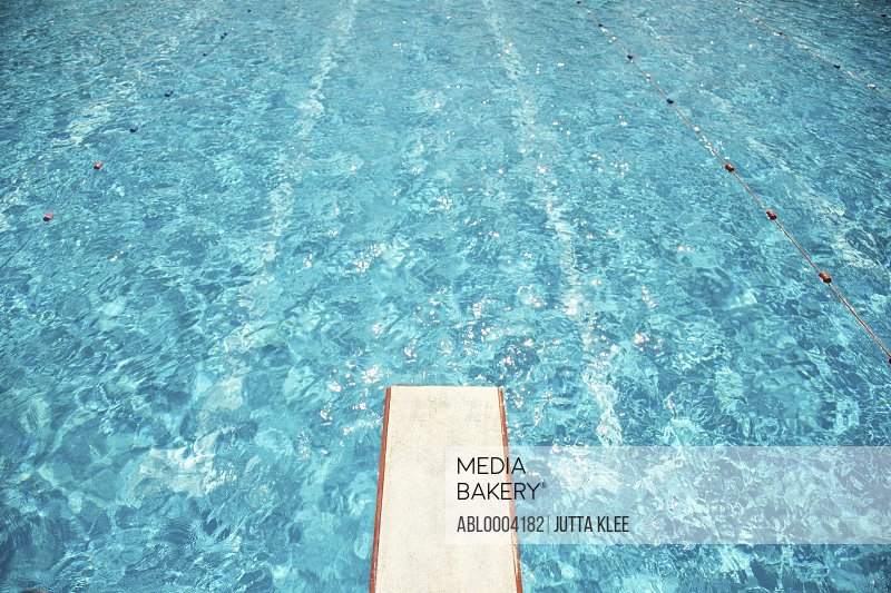 Diving Board over Swimming Pool