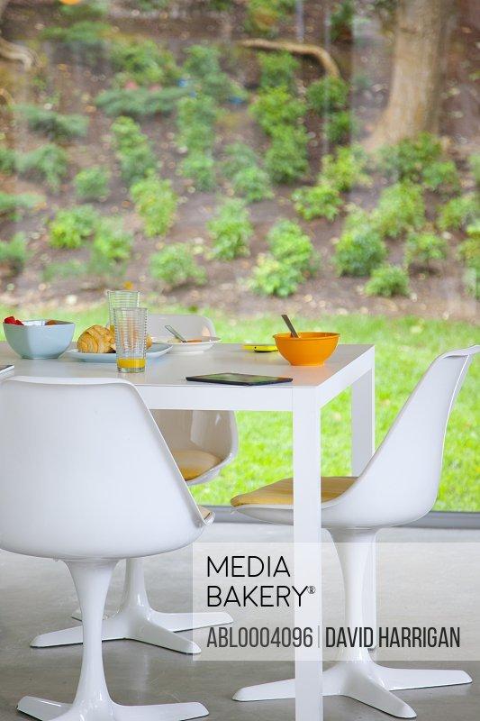 Modern Dining Room at Breakfast