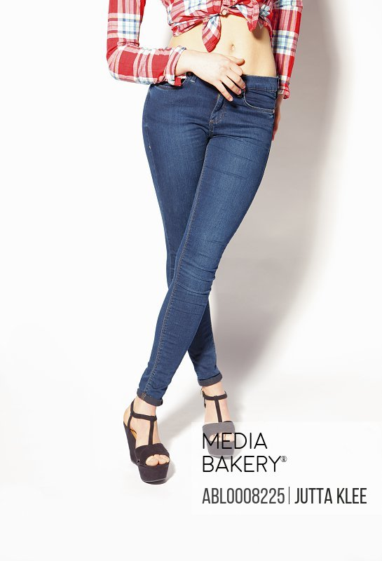 Woman in Skin-tight Jeans, Low Section