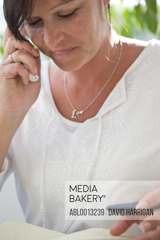 Woman on Cordless Telephone