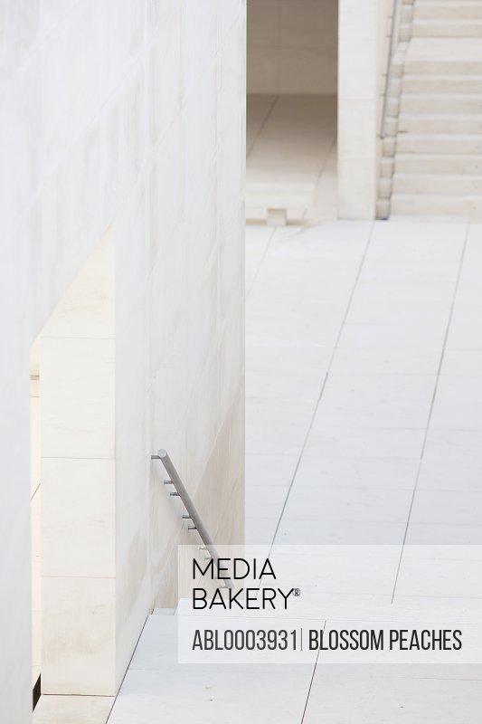 Walled Walkway and Stairway of Modern Building