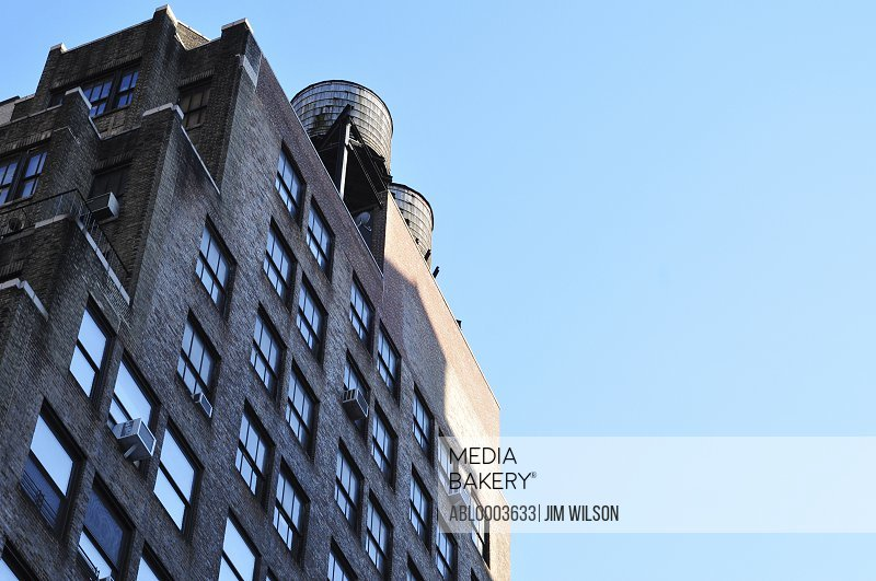 Building Exterior and Blue Sky, New York City, USA