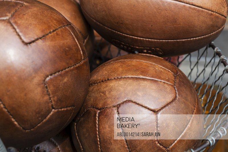 Brown Leather Sport Balls