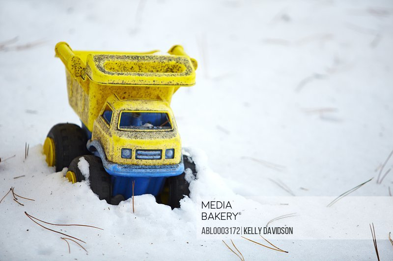 Toy Truck in Snow