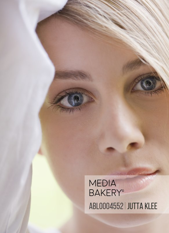 Close up of young  blonde woman