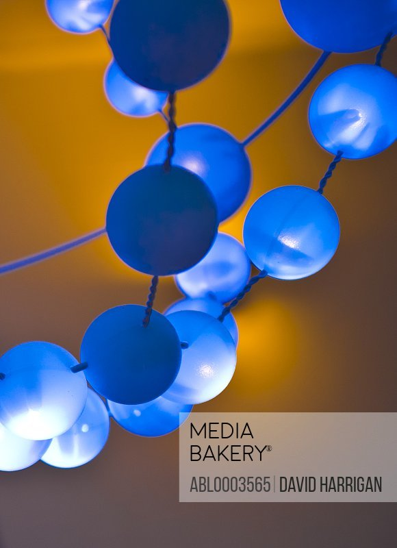 Detail of Fluorescent Spheres on Hanging Light