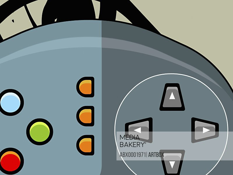 The controls of a video game