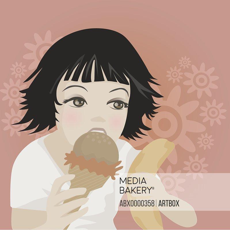 Girl eating an ice-cream