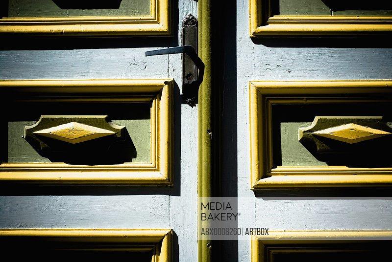 Close-up of a closed door