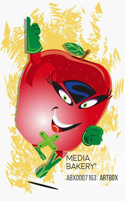 Apple representing a human