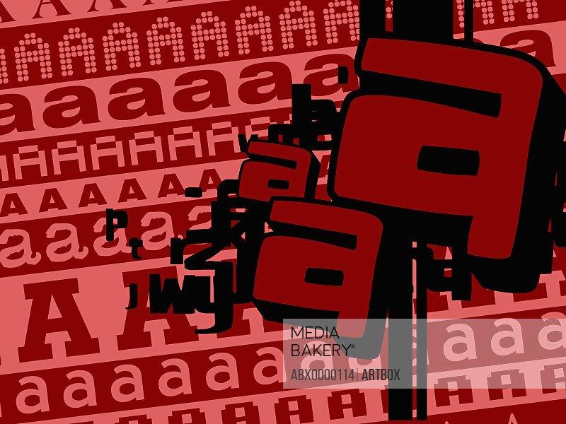 Close-up of alphabets