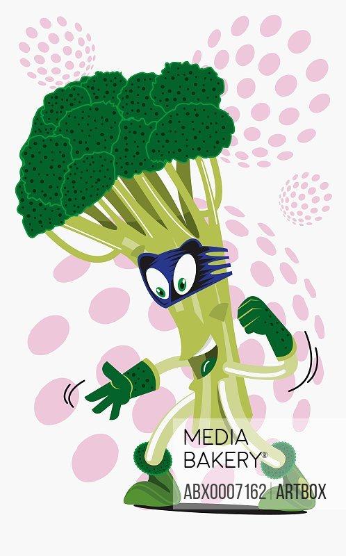 Close-up of broccoli representing a human