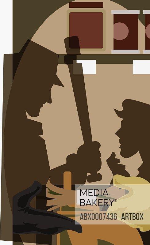 Side profile of detectives investigating