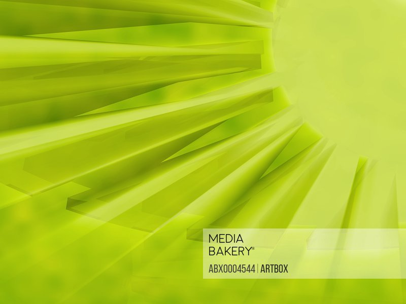 Abstract pattern on a green background