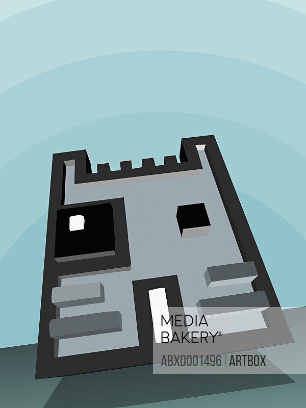 Digital representation of a cat