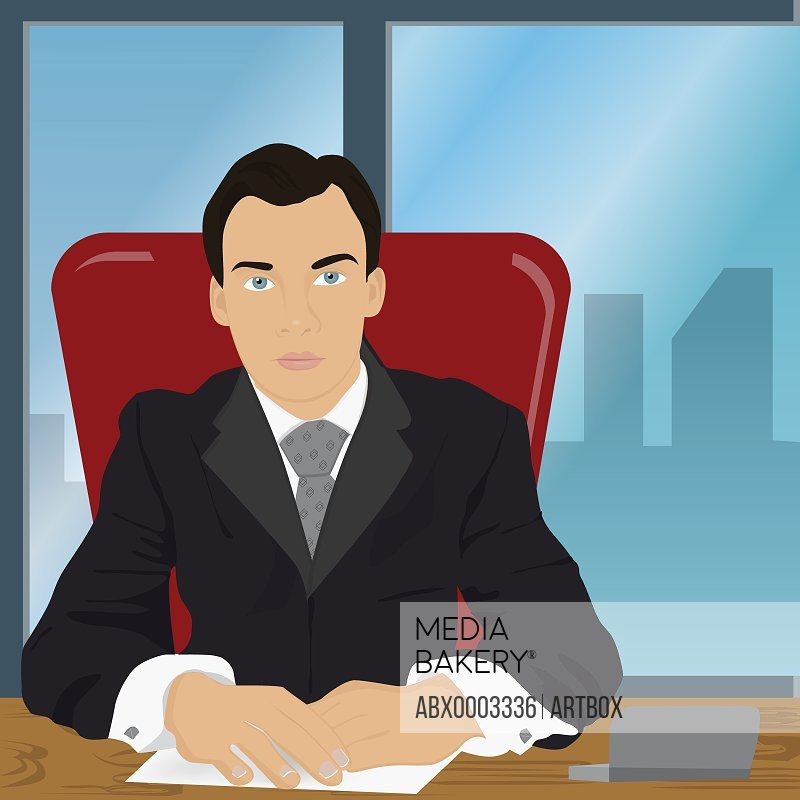 Businessman sitting in an office