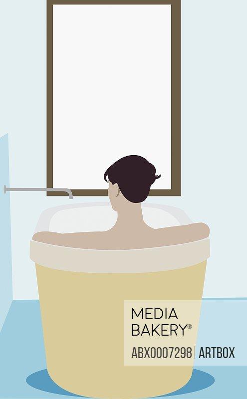 Man in a bathtub